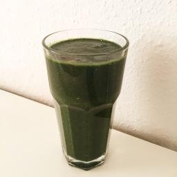 Grüner Frühstückssmoothie für Einsteiger –  green breakfast smoothie for beginners
