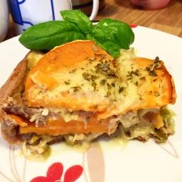 Vegane Süßkartoffel-Pilze Quiche –  überzeugt auch Nicht-Veganer/innen