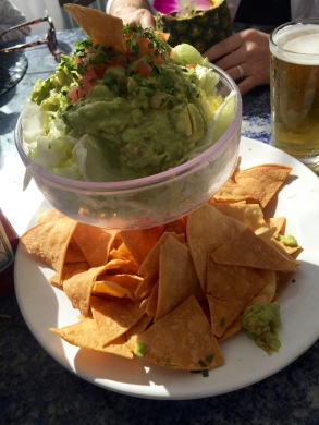 Auch die Guacamole und die Chips sind vegan