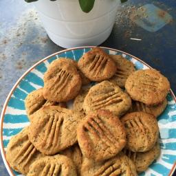 Simple Erdnussbutter-Protein Cookies