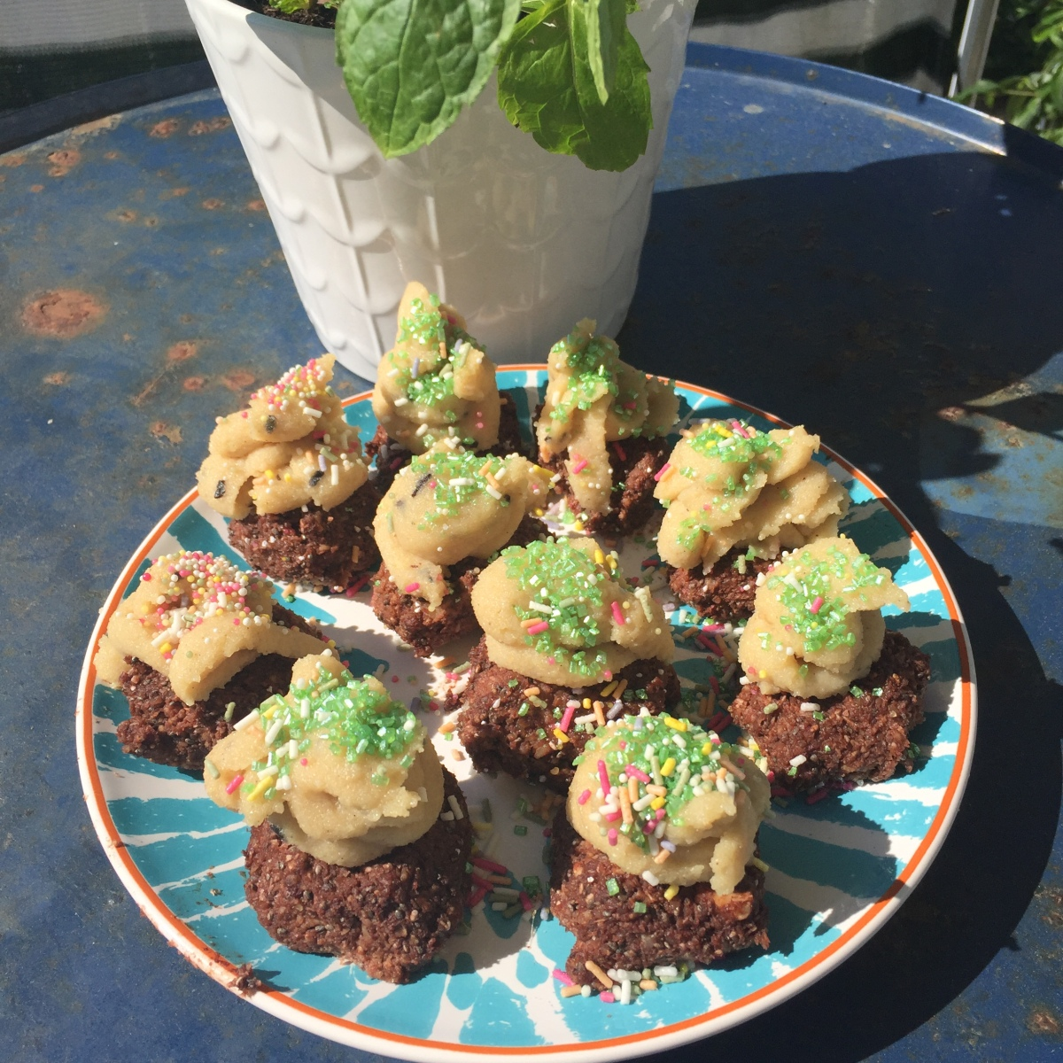 Roh-vegane Cupcakes