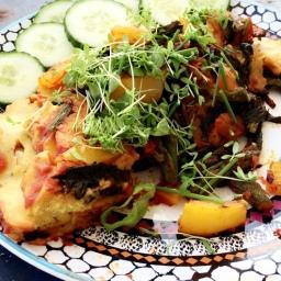 Kichererbsen-Bärlauch-Omelette