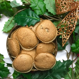 Gingerbread cranberry muffins – vegan-refined sugar free