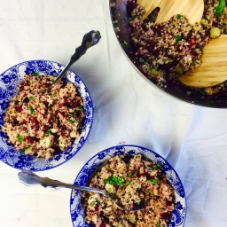 Quinoa-beetroot-salad – vegan and gluten free