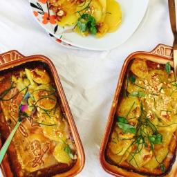 Scalloped potatoes –  vegan