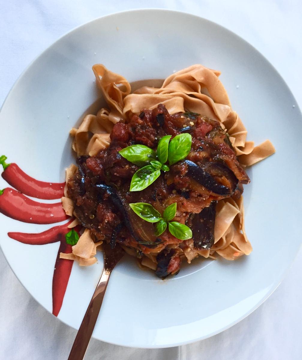 Eggplant-Pasta