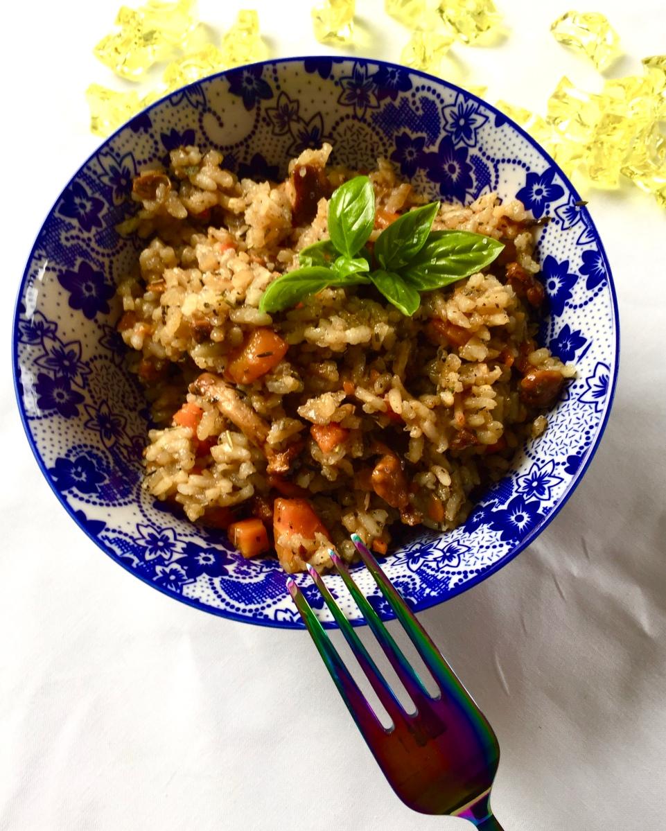 Mushroom-carrot-risotto
