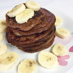Protein-chocolate-pancakes